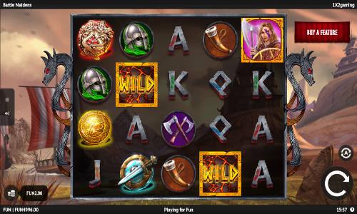 battle maidens slot screen