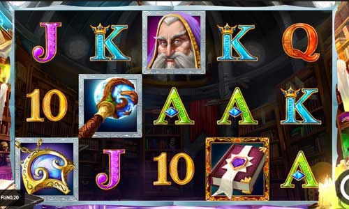 book of merlin slot screen