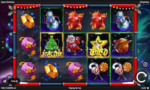 space christmas slot screen
