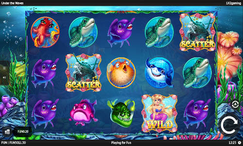under the waves slot screen