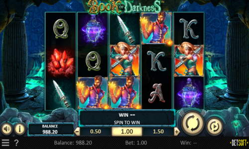 book of darkness slot screen