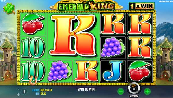 emerald king slot screen
