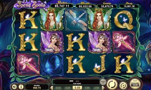 faerie spells slot screen