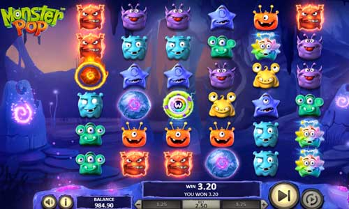 monster pop slot screen