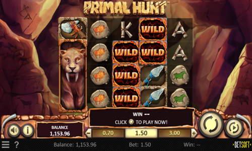 primal hunt slot screen