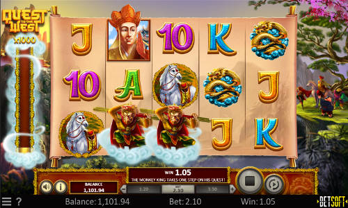 quest to the west slot screen