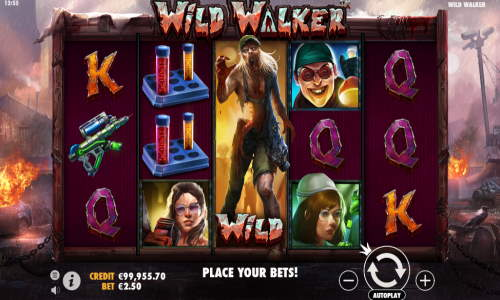 wild walker slot screen