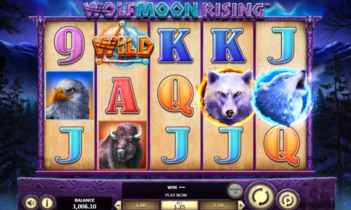 wolf moon rising slot screen