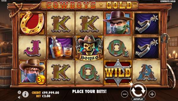 cowboys gold slot screen
