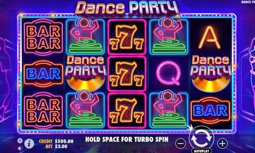 dance party slot screen
