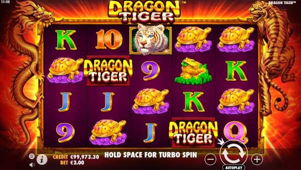 dragon tiger slot screen