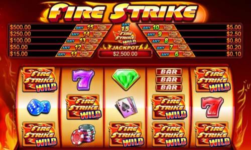 fire strike slot screen