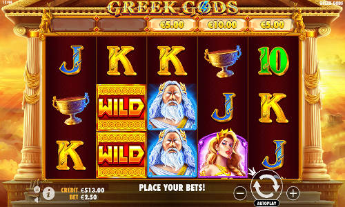 greek gods slot screen 1