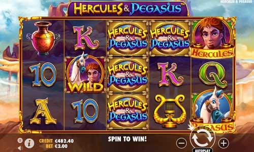 hercules and pegasus slot screen