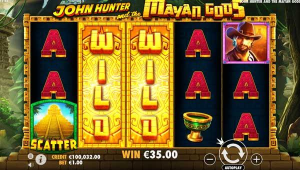 john hunter and the mayan gods slot screen