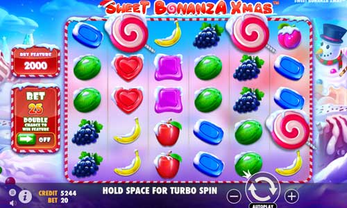 sweet bonanza xmas slot screen