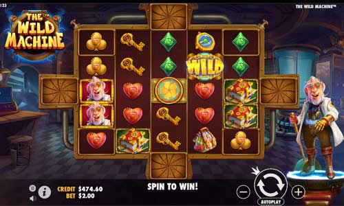 the wild machine slot screen