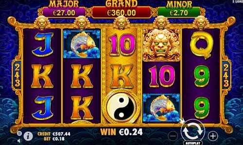 5 lions gold slot screen