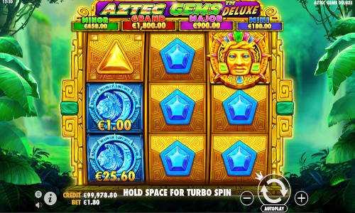 aztec gems deluxe slot screen