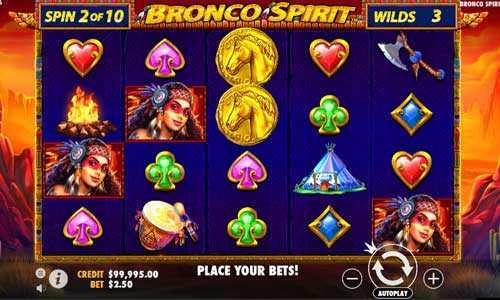 bronco spirit slot screen