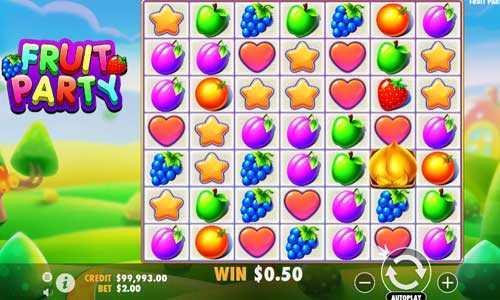 fruit party slot screen