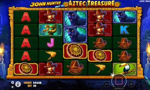 john hunter and the aztec treasure slot screen