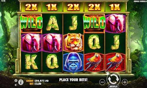 jungle gorilla slot screen