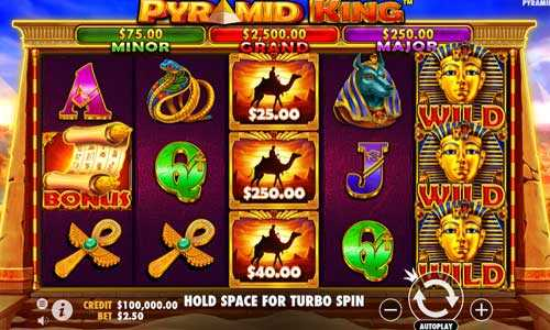 pyramid king slot screen