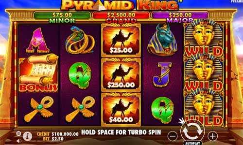 pyramid king slot screen