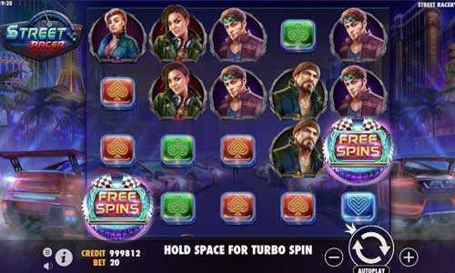 street racer slot screen