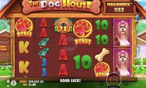 the dog house megaways slot screen