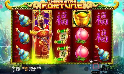 three star fortune slot screen