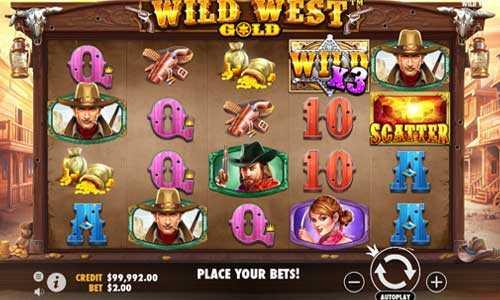 wild west gold slot screen