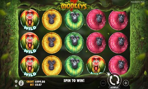 7 monkeys slot screen