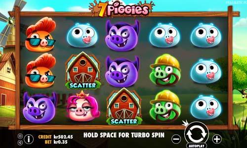 7 piggies slot screen