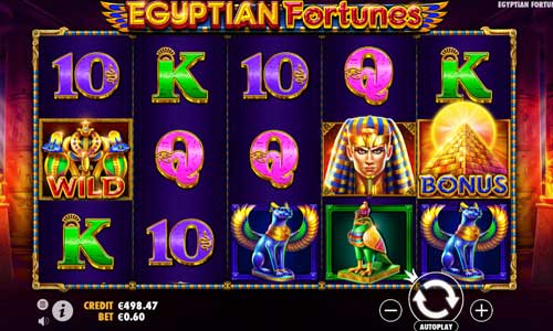 egyptian fortunes slot screen