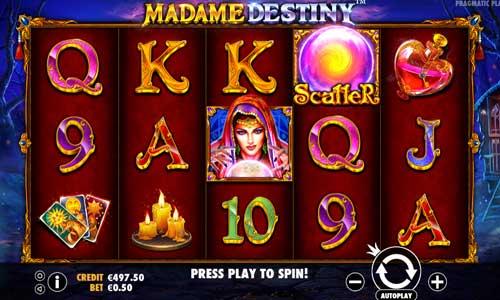madame destiny slot screen