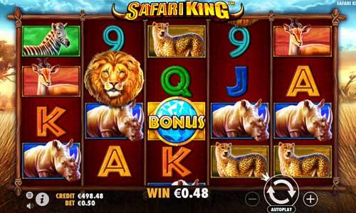 safari king slot screen