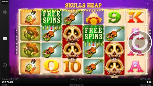 skulls heap slot screen