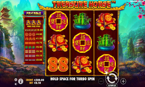 treasure horse slot screen
