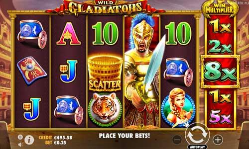 wild gladiators slot screen
