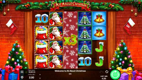 all about christmas slot screen