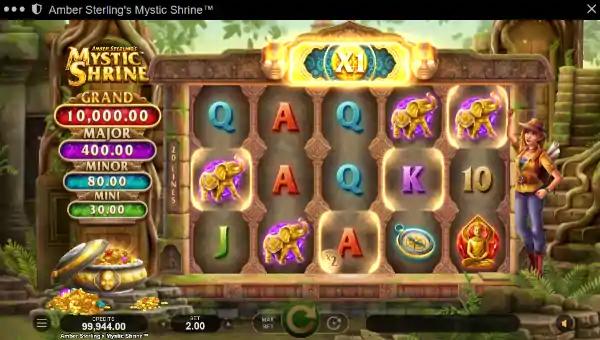 amber sterlings mystic shrine slot screen