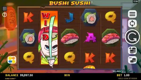 bushi sushi slot screen