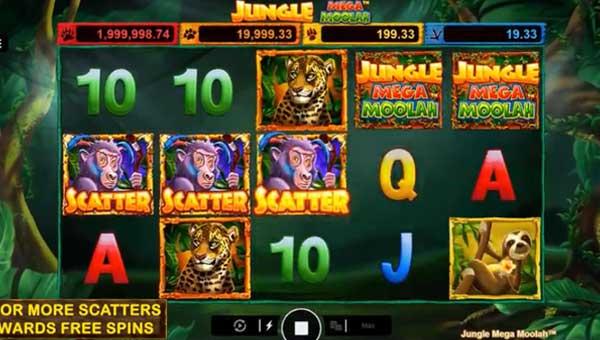 jungle mega moolah slot screen
