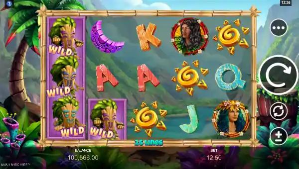 maui mischief slot screen