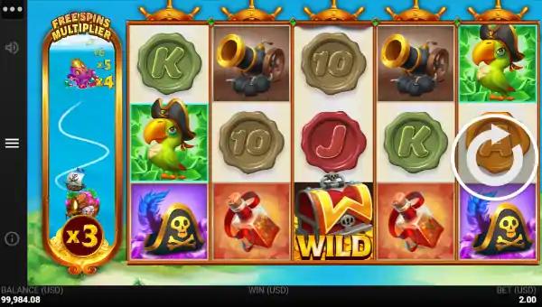 pirates quest slot screen