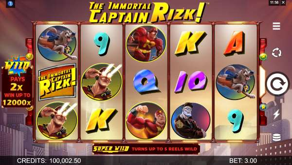 the immortal captain rizk slot screen
