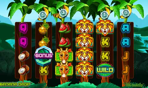 banana drop slot screen