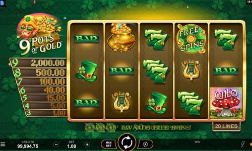 9 pots of gold slot screen